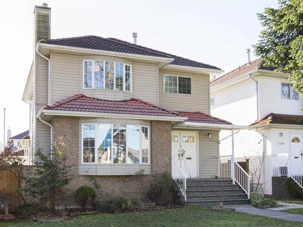 Main Photo: 2468 William St. in Vancouver: Renfrew VE House for sale (Vancouver East)  : MLS® # R2039909