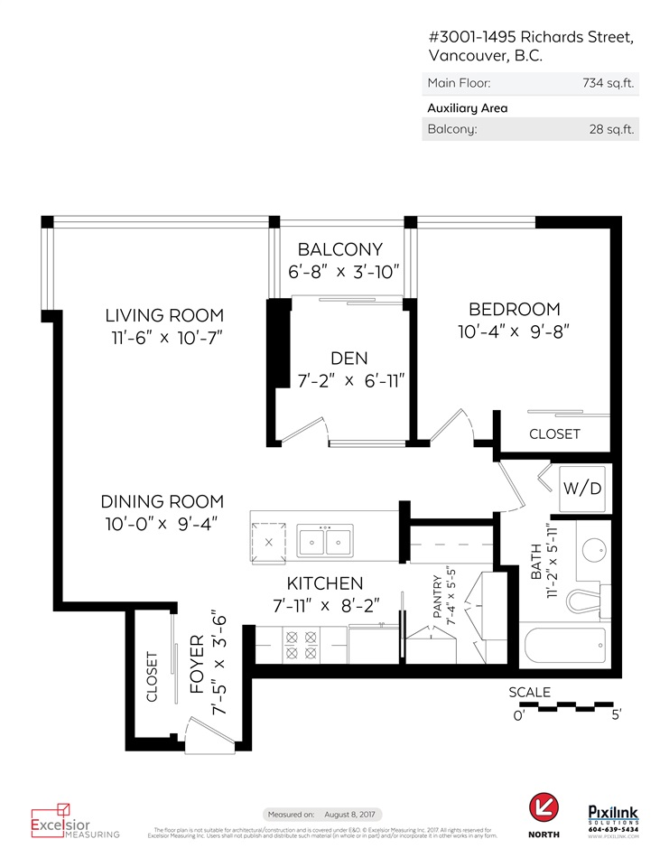 Floor Plan for Suite 3001 1495 Richards Street