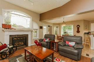 Vaulted ceilings throughout main living space