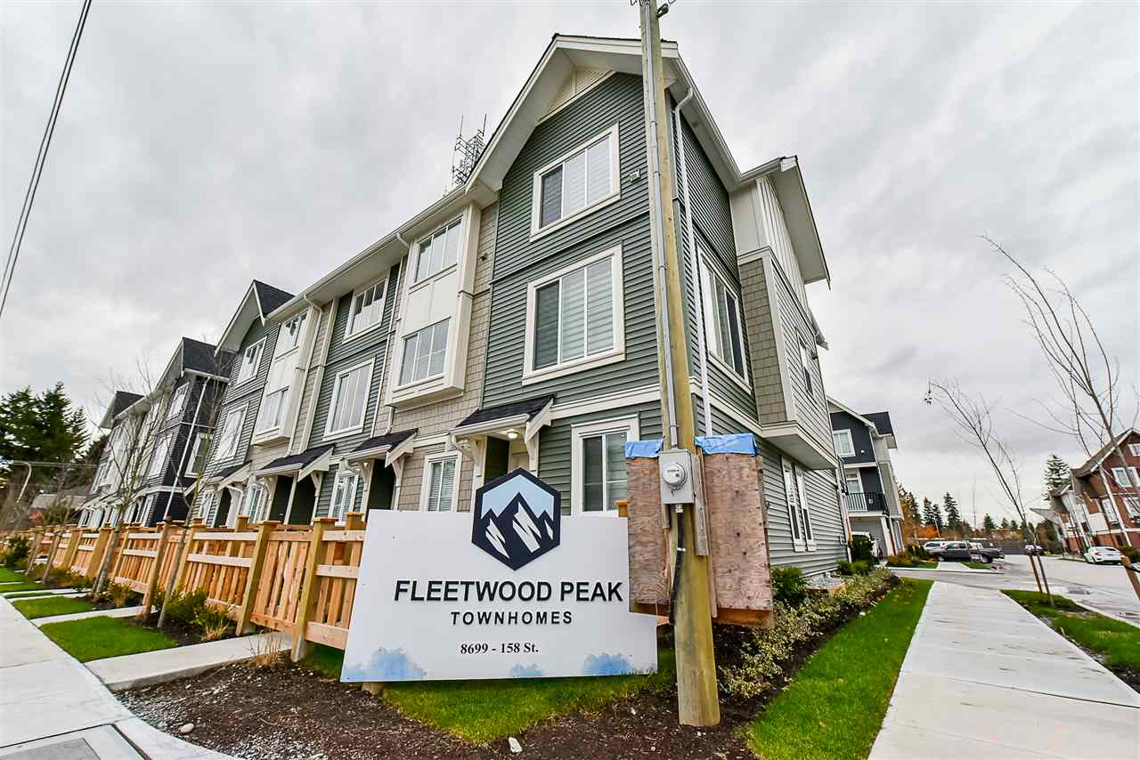 Photo 1: Photos: 14 8699 158 Street in Surrey: Fleetwood Tynehead Townhouse for sale : MLS® # R2223443