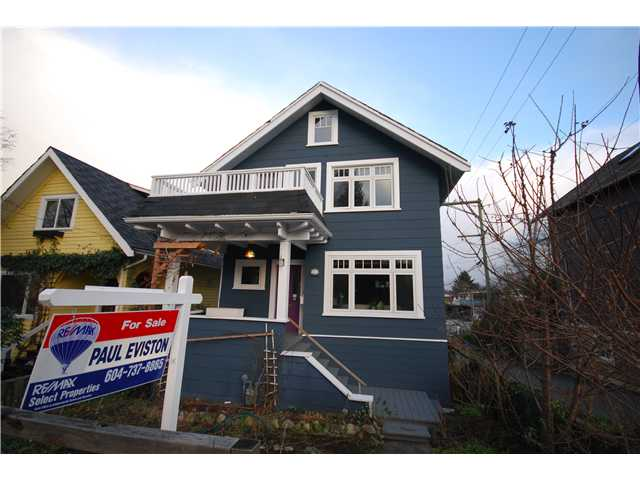 Main Photo: 3422 SOPHIA Street in Vancouver: Main House for sale (Vancouver East)  : MLS®# V923105