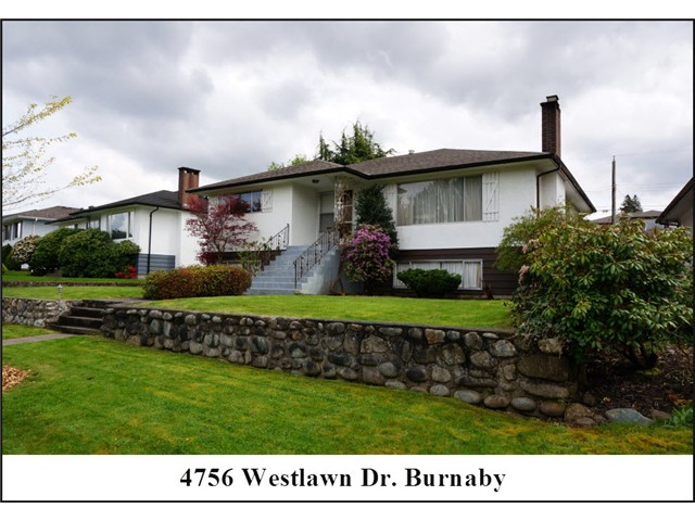 "Main Photo: 4756 WESTLAWN Drive in Burnaby: Brentwood Park House for sale in ""Brentwood Park"" (Burnaby North)  : MLS® # V1059724"