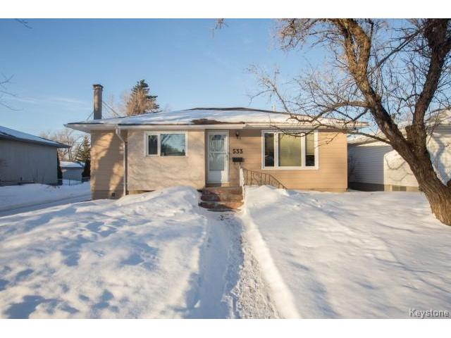 Main Photo: 533 Kildare Avenue West in Winnipeg: West Transcona Residential for sale (3L)  : MLS® # 1701705