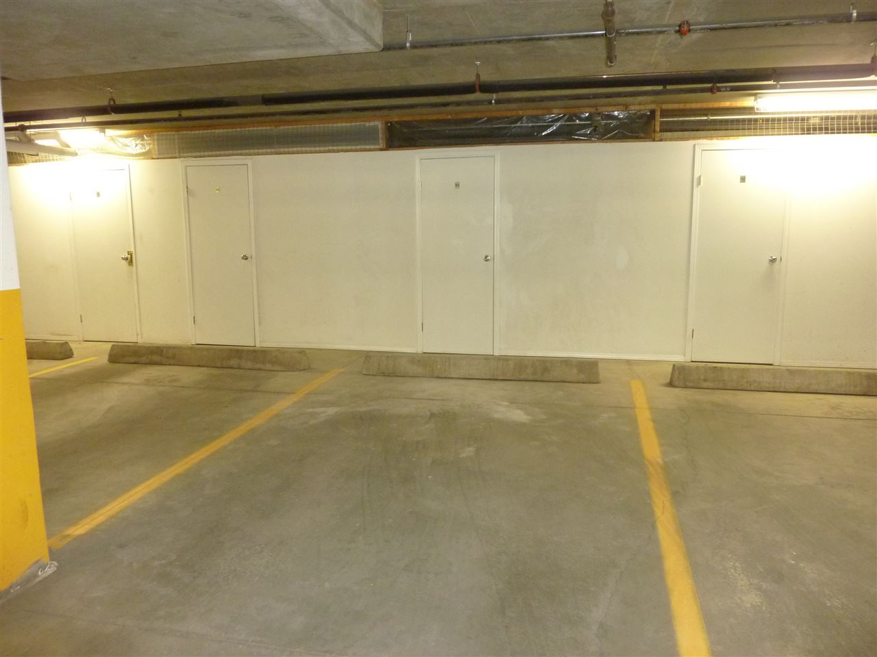 Underground parking with storage unit