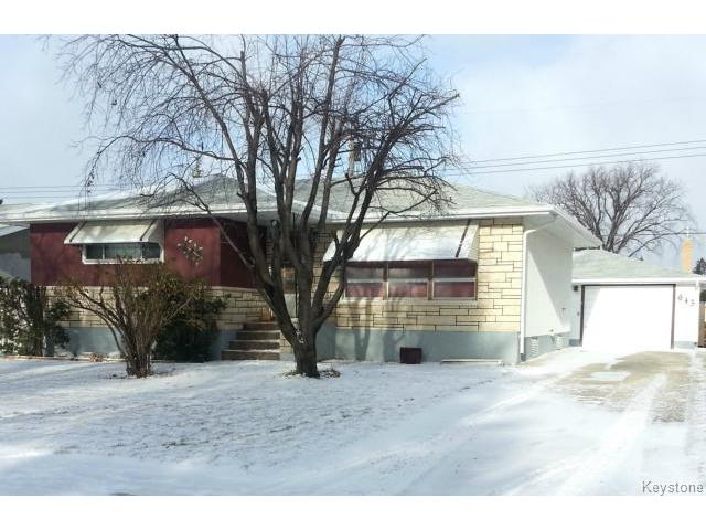Main Photo: 643 Hartford Avenue in WINNIPEG: West Kildonan / Garden City Residential for sale (North West Winnipeg)  : MLS® # 1427986