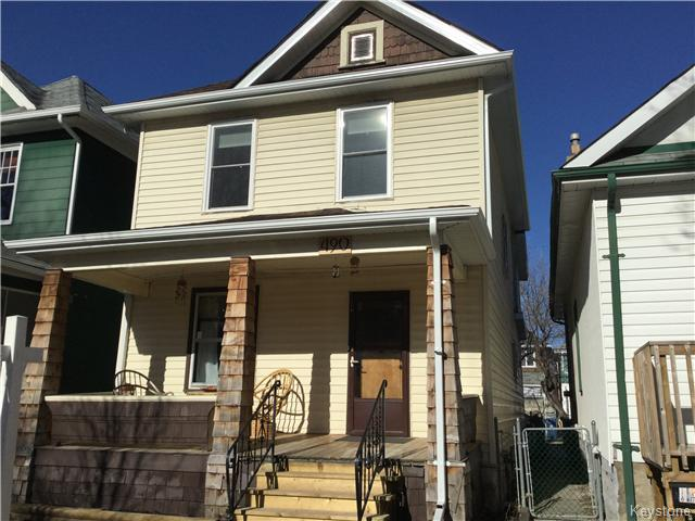 Main Photo: 490 Newman Street in Winnipeg: West End / Wolseley Residential for sale (West Winnipeg)  : MLS® # 1607671