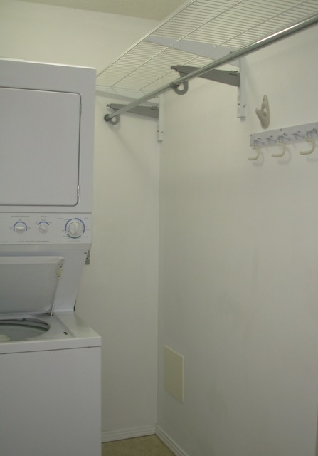 So convenient to have your own in-suite laundry room!