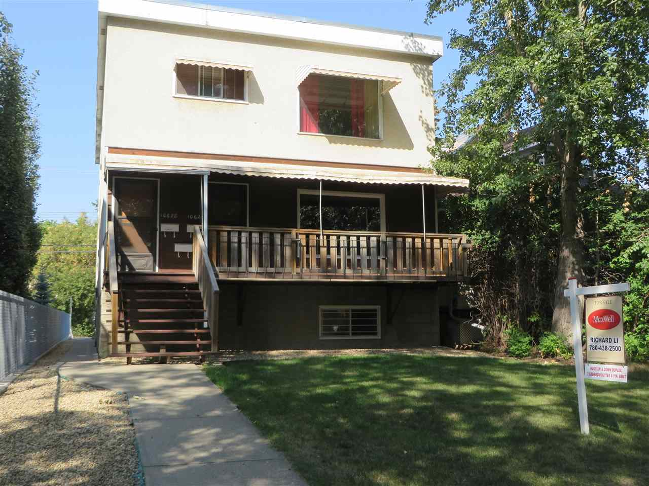 Main Photo: 10626 84 Avenue in Edmonton: Zone 15 House Duplex for sale : MLS® # E4079926