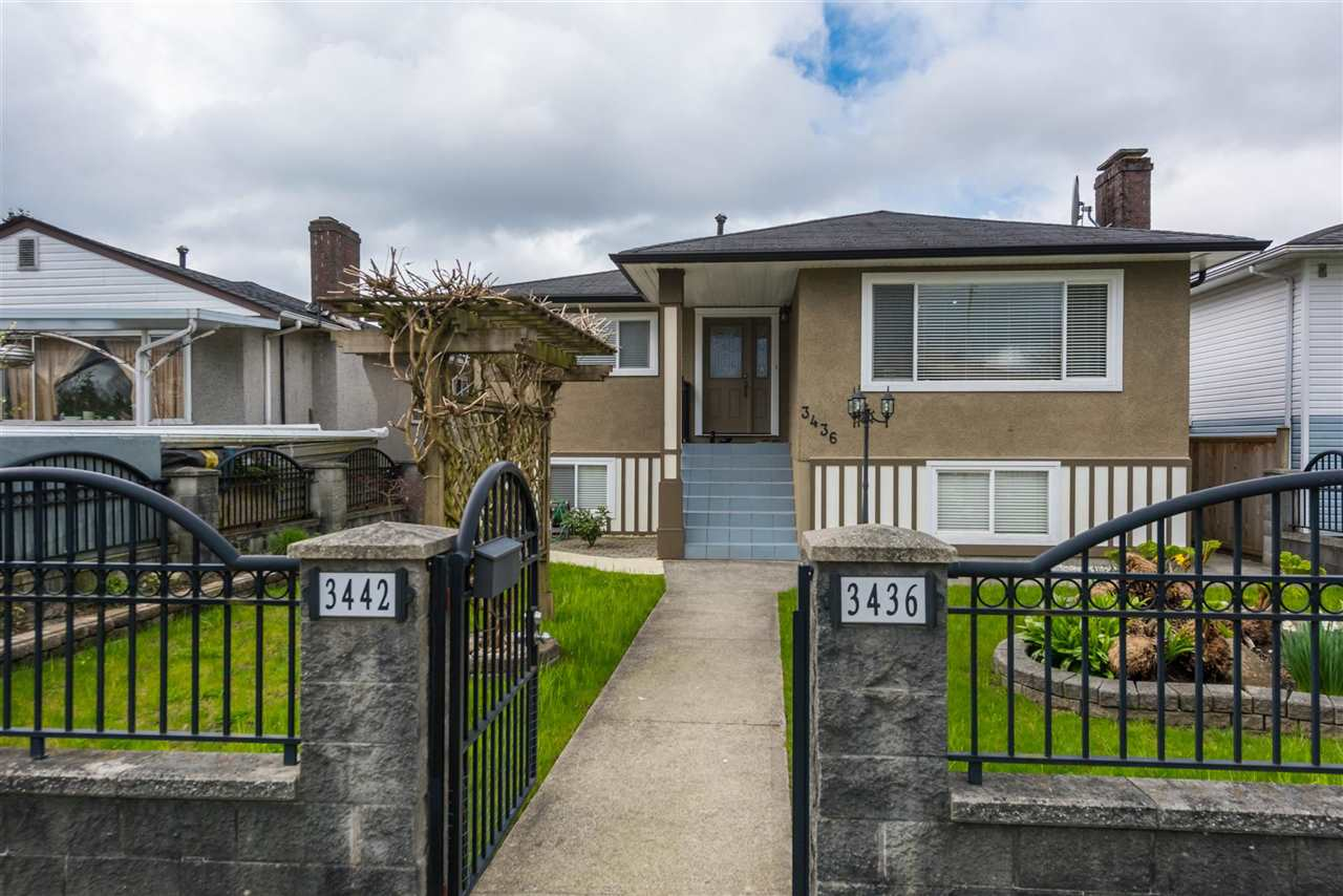 Photo 1: Photos: 3436 TANNER STREET in Vancouver: Collingwood VE House for sale (Vancouver East)  : MLS® # R2226818