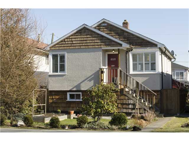 Main Photo: 820 GARDEN Drive in Vancouver: Hastings House for sale (Vancouver East)  : MLS®# V1050713