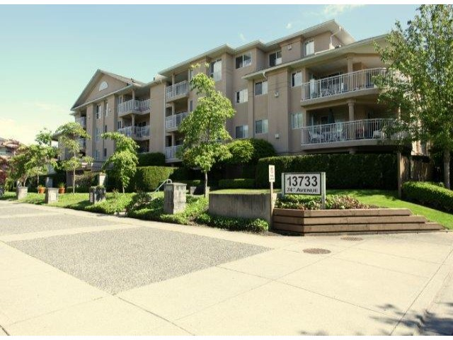 "Main Photo: 310 13733  74 AV in Surrey: East Newton Condo for sale in ""King's Court"" : MLS® # F1313212"