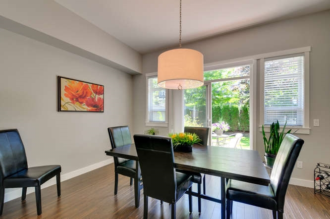 Modern light fixtures throughout