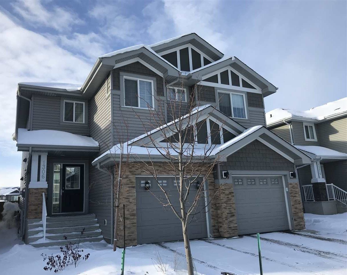 Main Photo: 1306 162 Street in Edmonton: Zone 56 House Half Duplex for sale : MLS®# E4095662