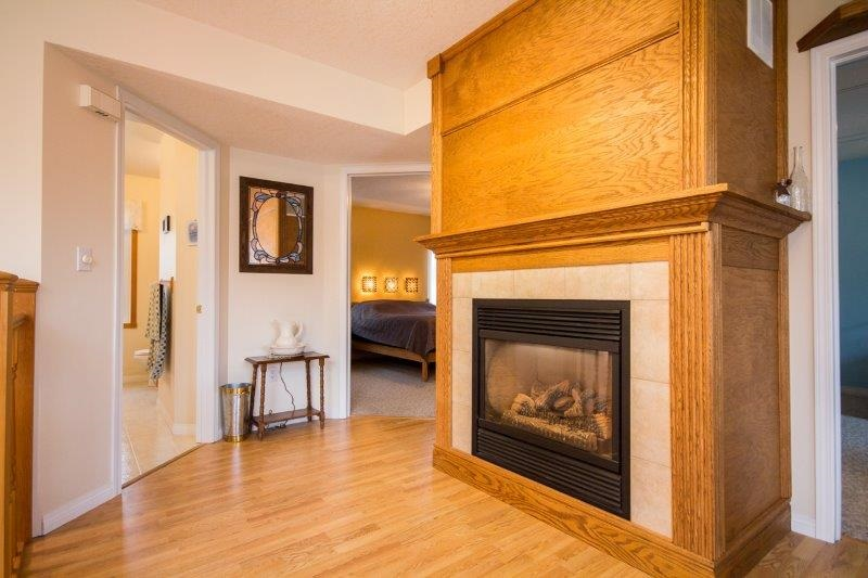 This fireplace & A/C combination unit is great for all times of the year.
