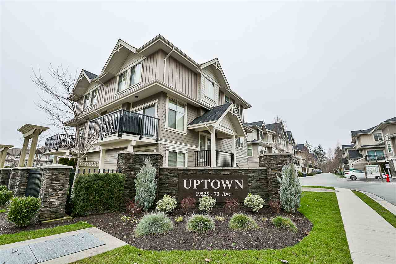 "Main Photo: 75 19525 73 Avenue in Surrey: Clayton Townhouse for sale in ""UPTOWN CLAYTON"" (Cloverdale)  : MLS®# R2237893"