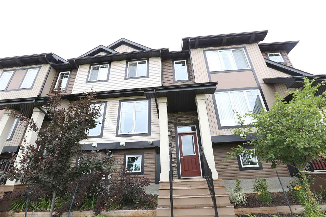 Main Photo: 7 1776 CUNNINGHAM Way in Edmonton: Zone 55 Townhouse for sale : MLS® # E4073693