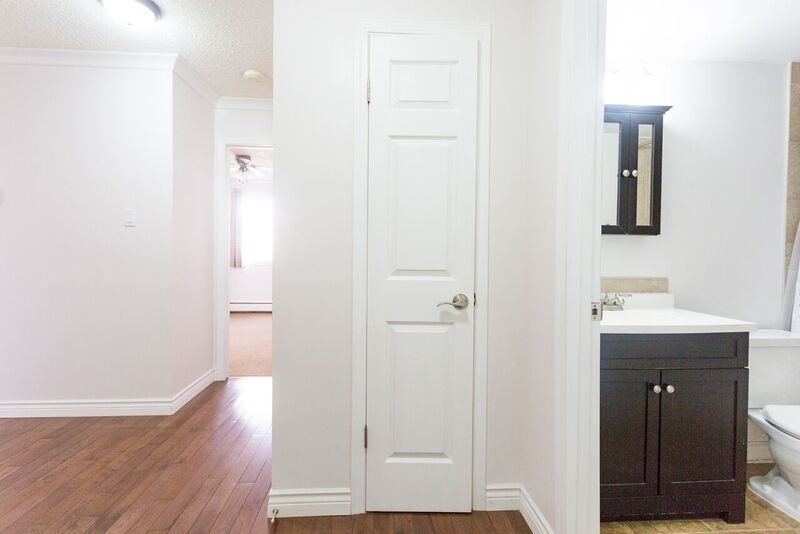 Large bright foyer, with pantry and closets.