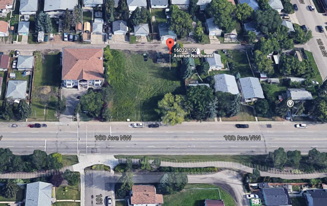 Main Photo: 16022 100 Avenue in Edmonton: Zone 22 Vacant Lot for sale : MLS(r) # E4068951