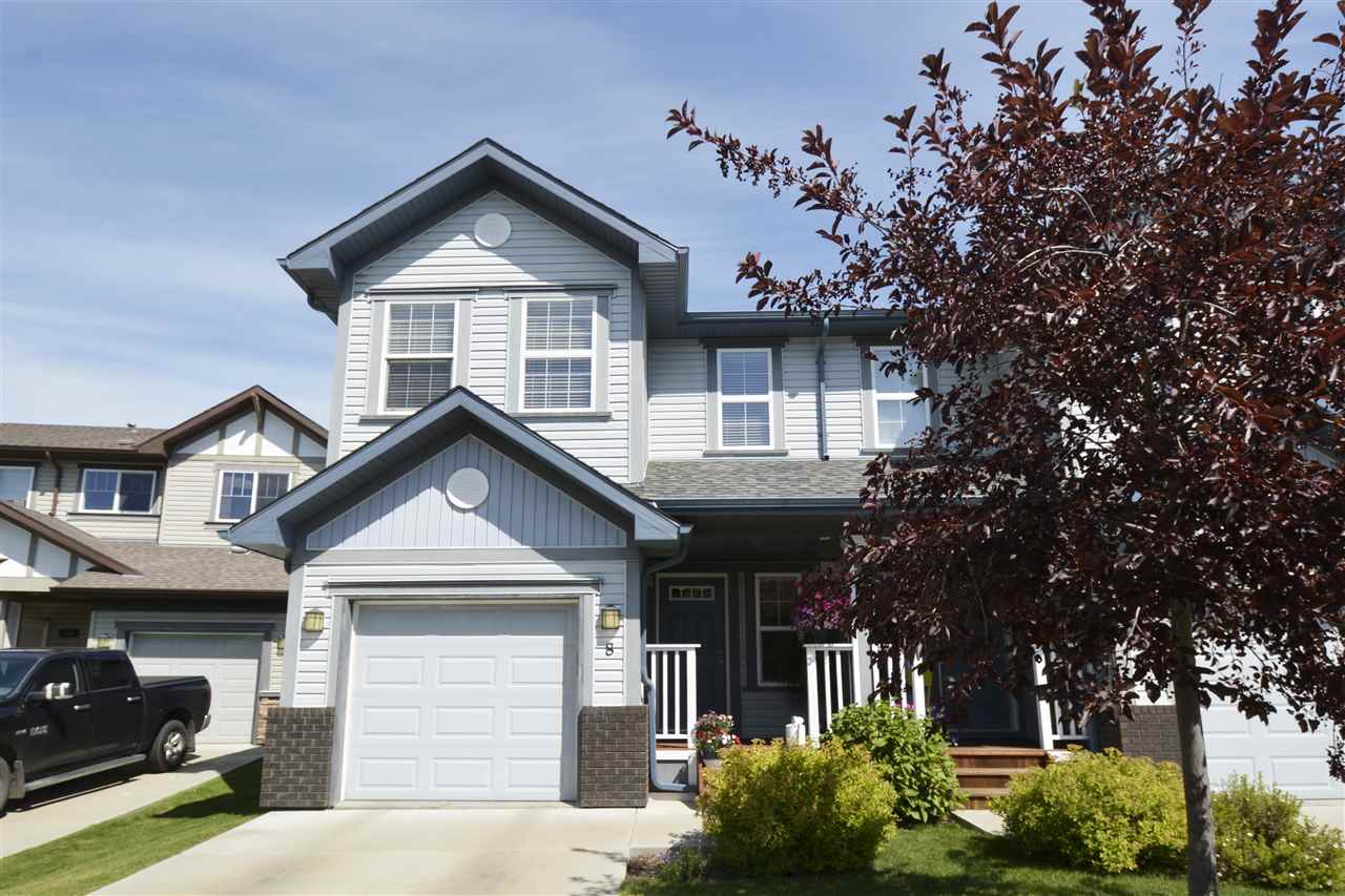 Main Photo: 8 Hartwick Mews: Spruce Grove House Half Duplex for sale : MLS® # E4077348