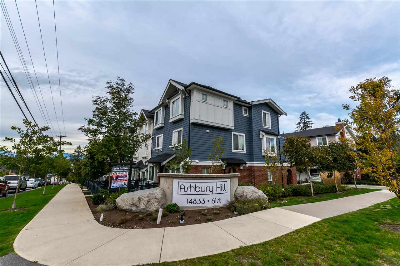 "Main Photo: 143 14833 61 Avenue in Surrey: Sullivan Station Townhouse for sale in ""ASHBURY HILL"" : MLS®# R2117073"