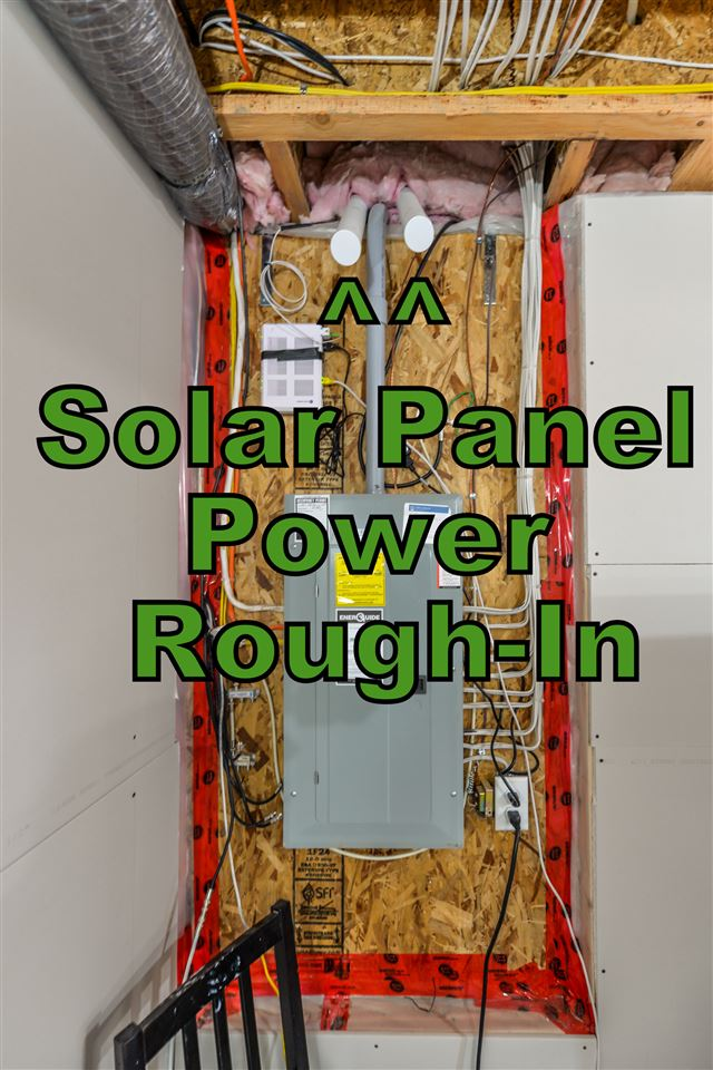 Roughed in for solar panel feed wiring