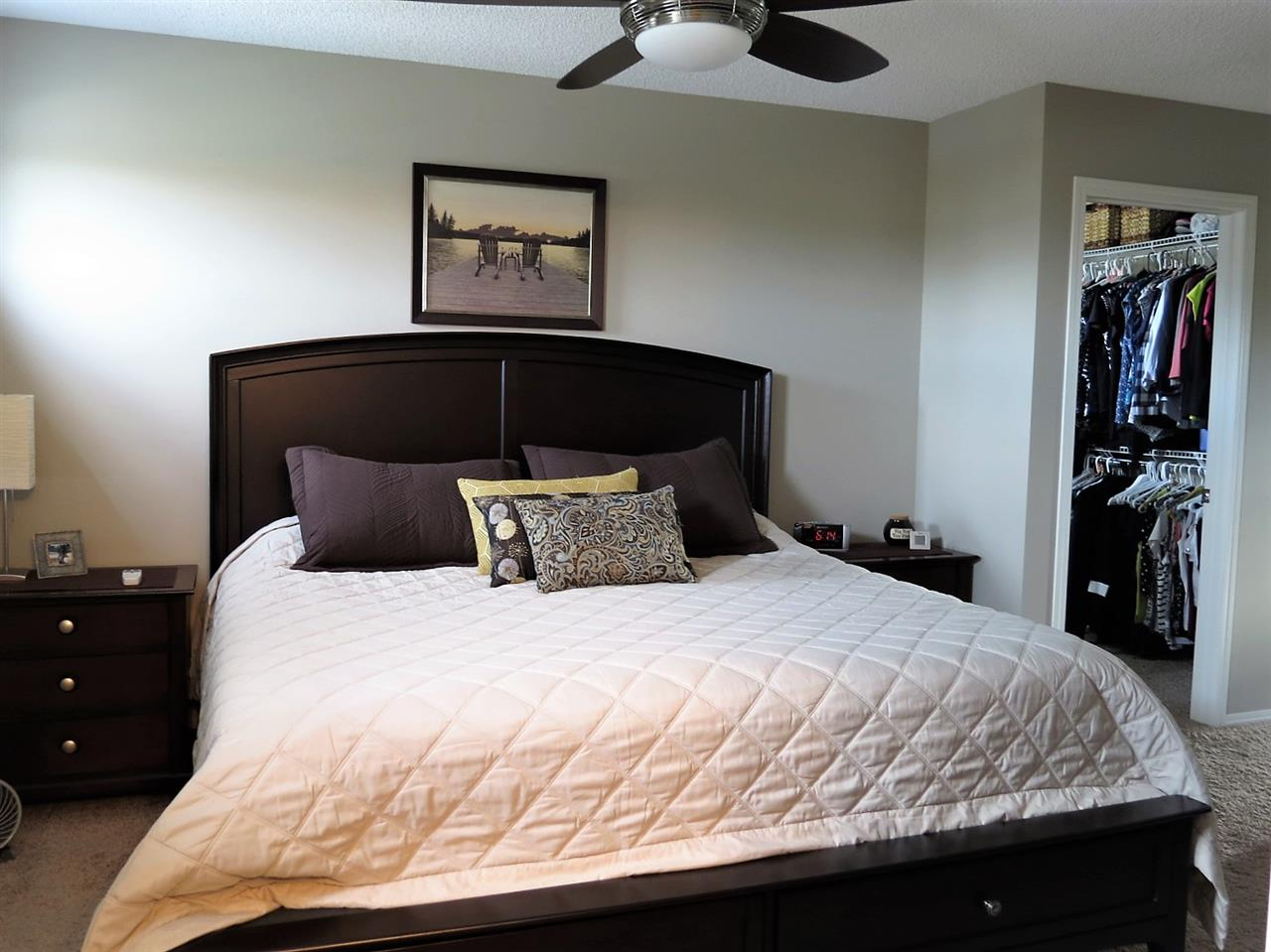 The spacious master bedroom has a large walk-in closet and a 4 piece ensuite.
