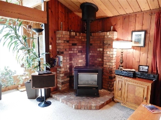 Enjoy fast, warm efficient heat from the propane stove/fireplace.
