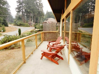 Enjoy the western exposure from the sundeck on the front of this cabin.