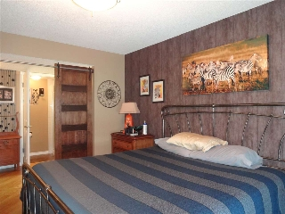 Sprawling Masterbedroom!  With sliding barn door for privacy from ensuite.