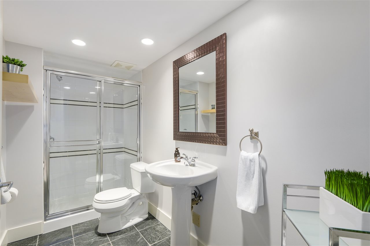 This 3 piece bathroom is tastefully updated and located on the lower level.