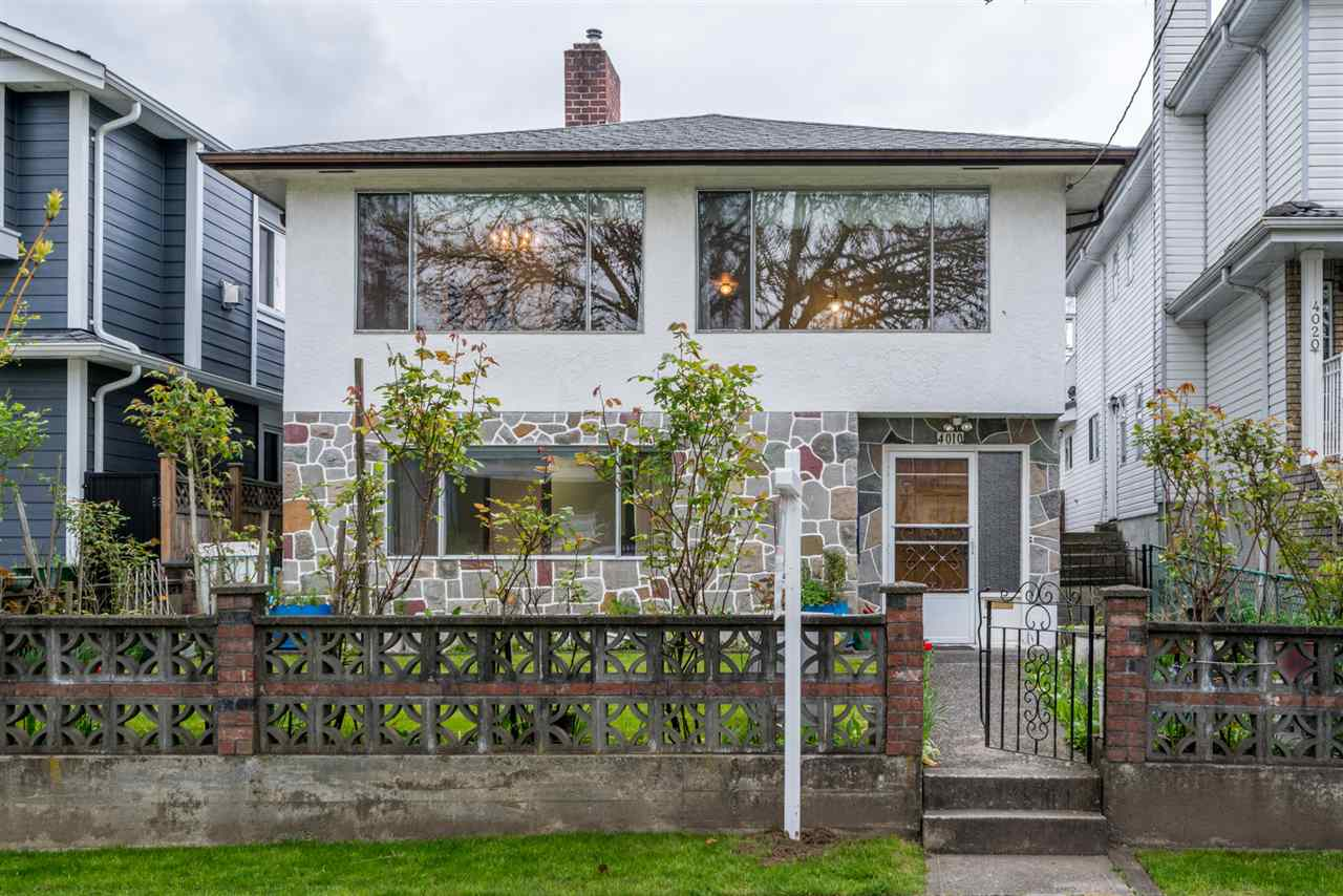 "Main Photo: 4010 BEATRICE Street in Vancouver: Victoria VE House for sale in ""Cedar Cottage / Victoria"" (Vancouver East)  : MLS®# R2265481"