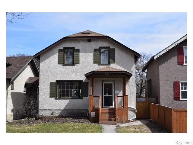 Main Photo: 731 Ingersoll Street in Winnipeg: West End / Wolseley Residential for sale (West Winnipeg)  : MLS® # 1610025