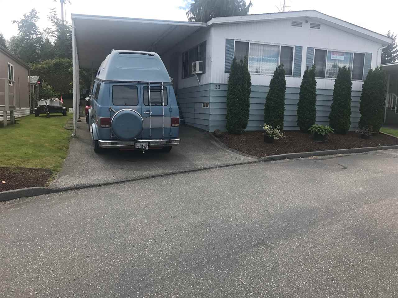 "Main Photo: 33 8254 134 Street in Surrey: Bear Creek Green Timbers Manufactured Home for sale in ""West Wood Estates"" : MLS(r) # R2179966"