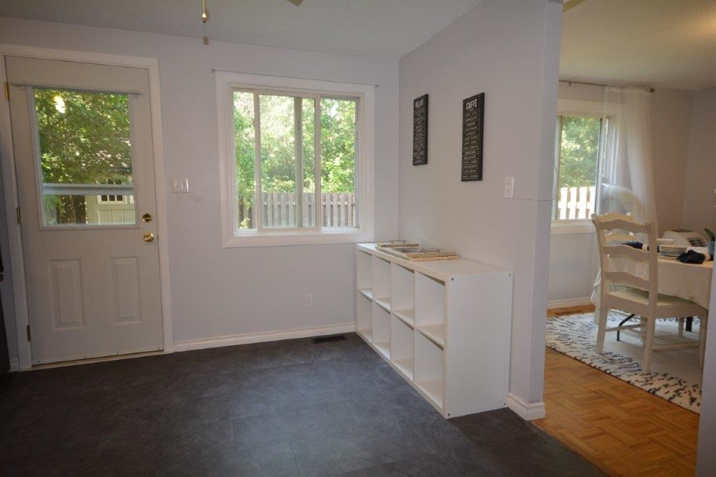 Room to add a breakfast nook table if you desire.