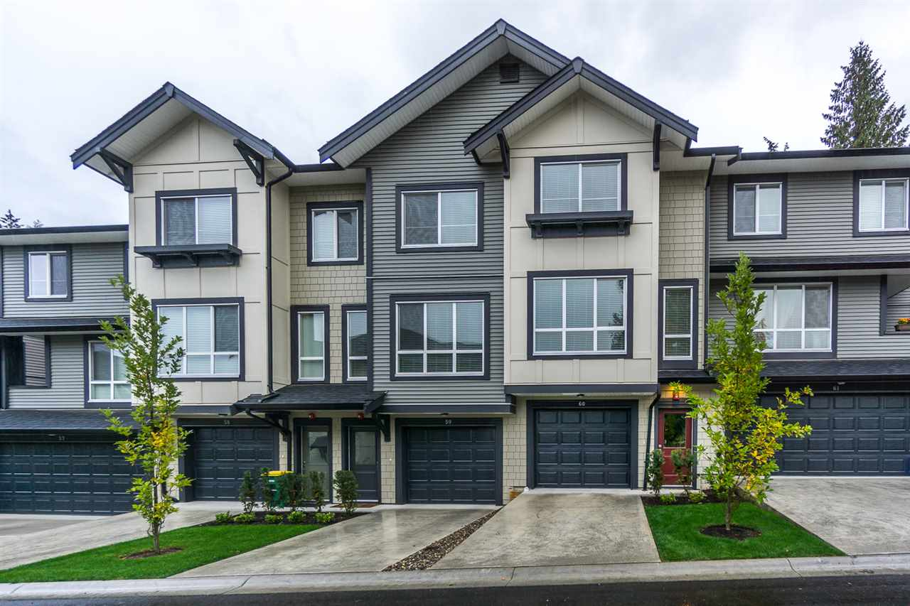 "Main Photo: 60 8570 204 Street in Langley: Willoughby Heights Townhouse for sale in ""WOODLAND PARK"" : MLS®# R2225688"