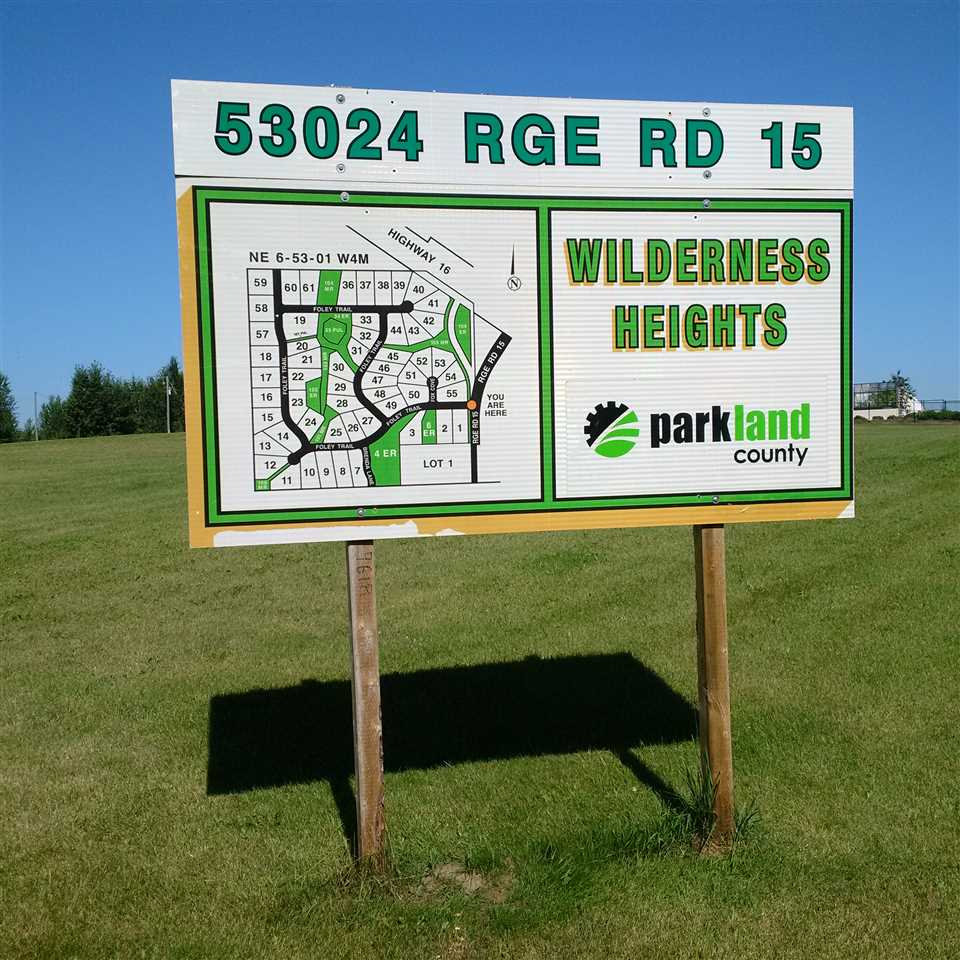 Main Photo: 58 53024 Rg Rd 15: Rural Parkland County Rural Land/Vacant Lot for sale : MLS® # E4077924