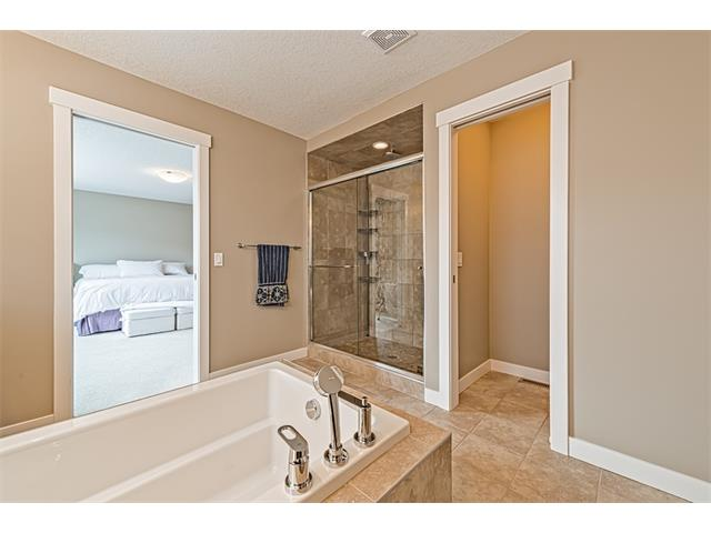 Oversized separate shower.