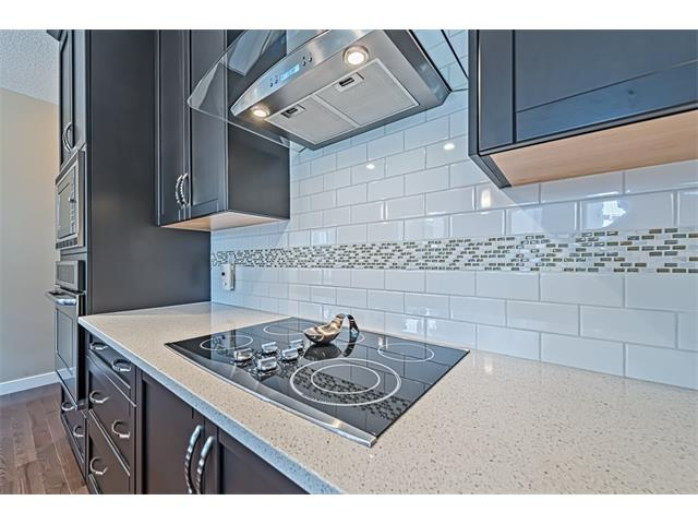 Tiled backsplash.