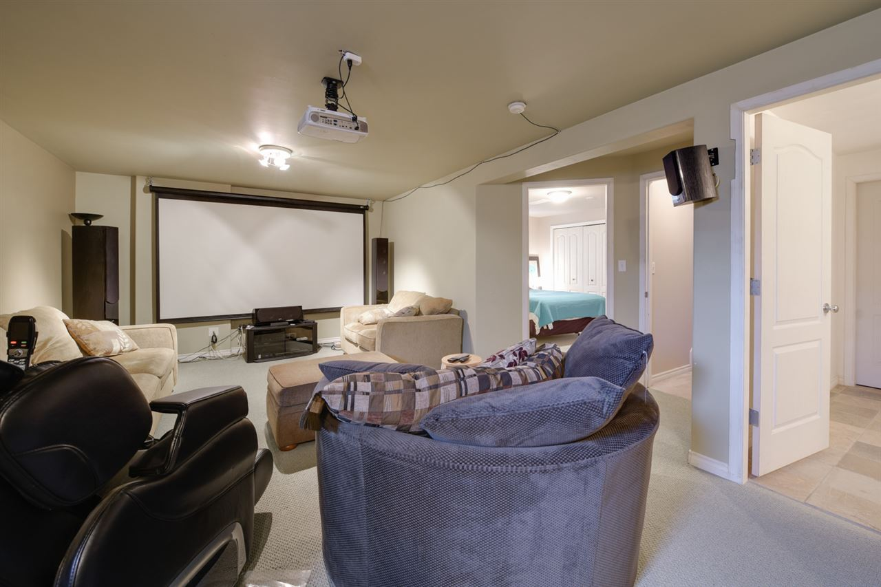 The basement has a large recreation room, 3rd bedroom, 3rd bathroom and a huge storage room.