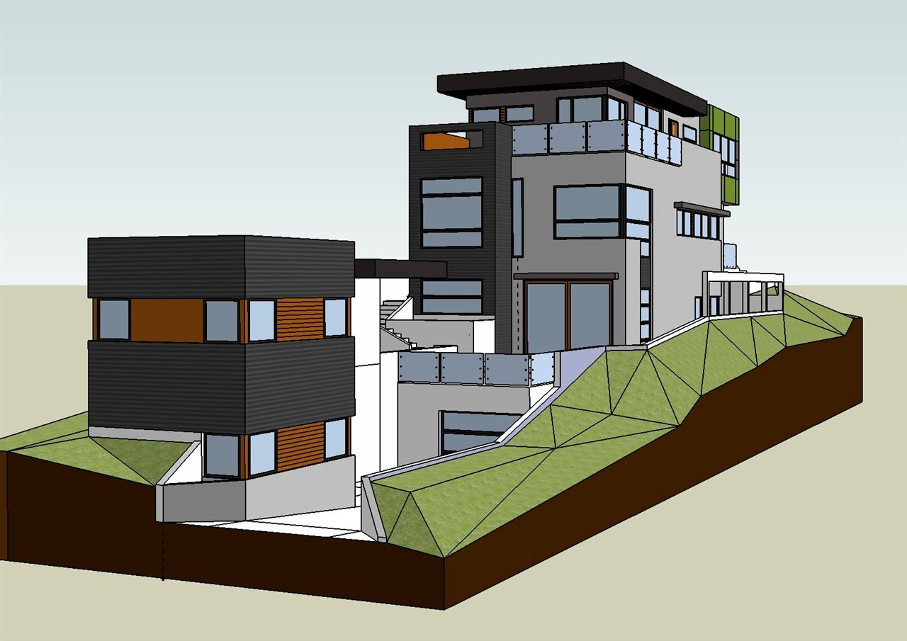 Architects rendition of possible future home. 3D model and plans available.