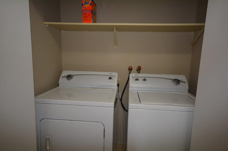 Ultra convenient in-suite laundry.