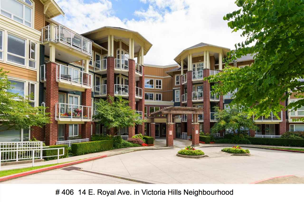 "Main Photo: 406 14 E ROYAL Avenue in New Westminster: Fraserview NW Condo for sale in ""Victoria Hill"" : MLS® # R2092920"
