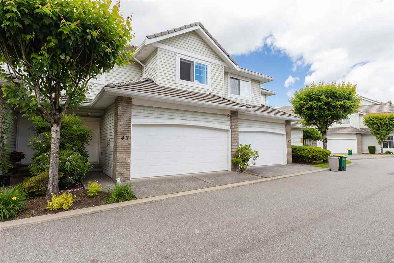 "Main Photo: 43 1290 AMAZON Drive in Port Coquitlam: Riverwood Townhouse for sale in ""Callaway Green"" : MLS®# R2279632"