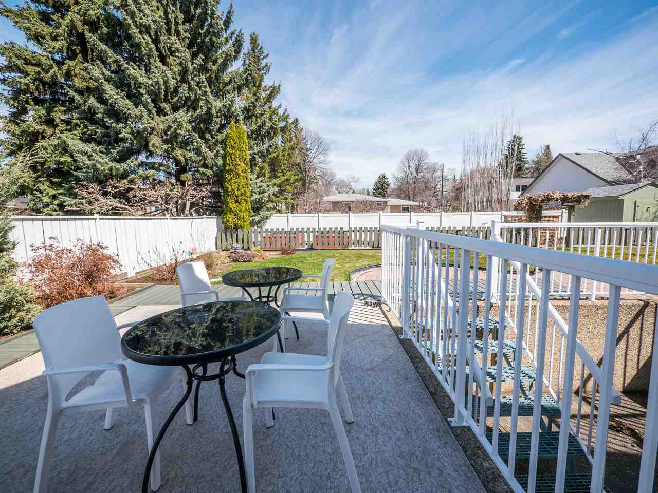 Upper Level Deck With Access to Main Floor Dining Nook