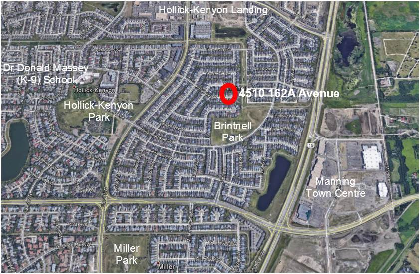 As you can see from this aerial view all amenities including schools, shopping, parks & transportation are close by. The Anthony Henday is only minutes away.
