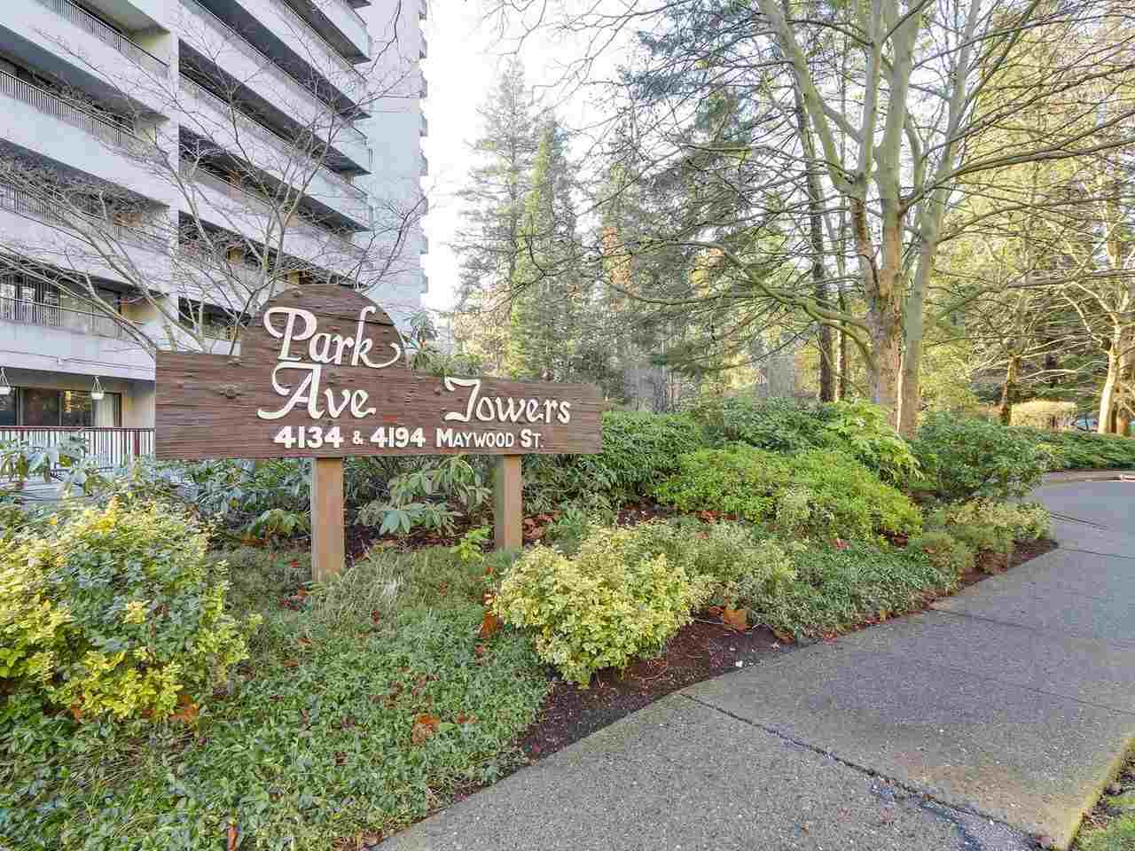 "Main Photo: 408 4134 MAYWOOD Street in Burnaby: Metrotown Condo for sale in ""PARK AVENUE TOWERS"" (Burnaby South)  : MLS®# R2227939"