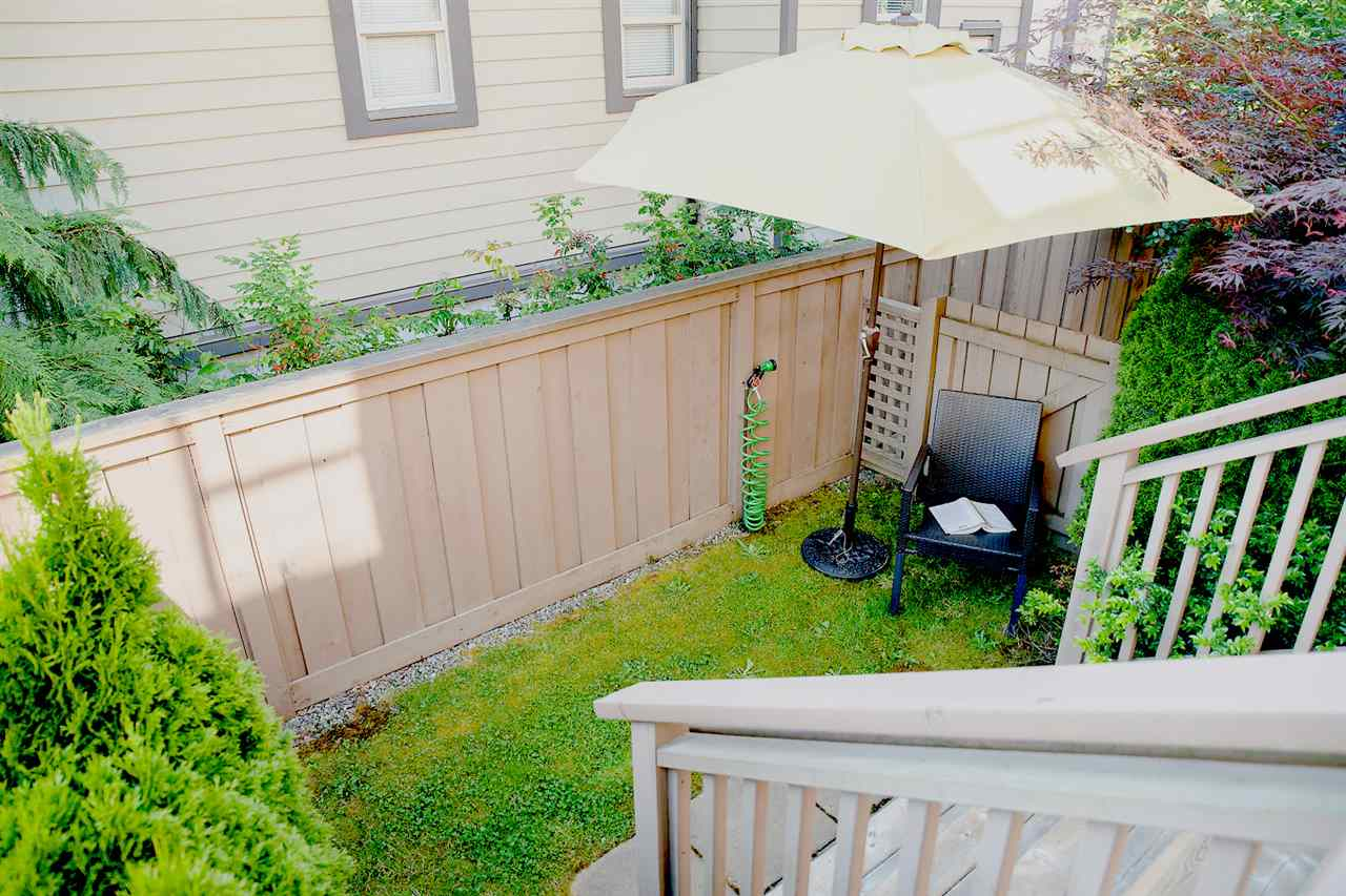 Fenced rear yard - perfect for pets or to find a shady spot to read your book....