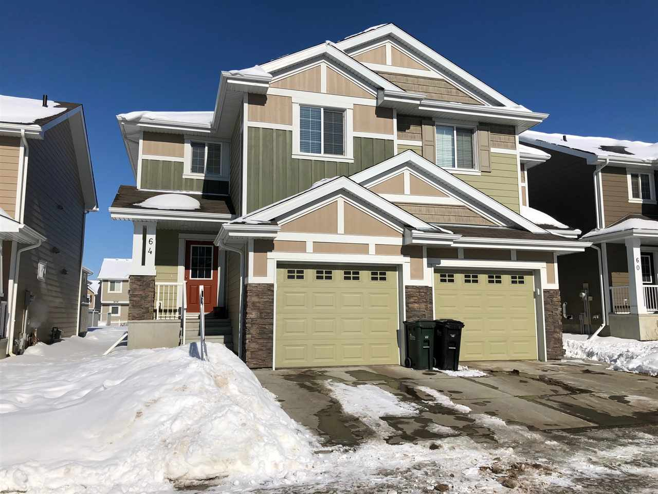 Main Photo: 64 219 Charlotte Way: Sherwood Park House Half Duplex for sale : MLS® # E4099744