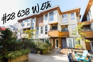 "Main Photo: 28 638 W 6TH Avenue in Vancouver: Fairview VW Townhouse for sale in ""Stella Del Fiordo"" (Vancouver West)  : MLS®# R2317489"