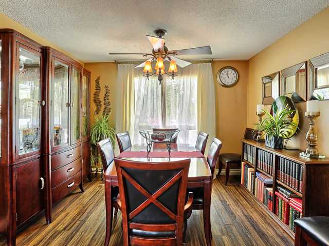 Great size open planned dining room with lots of room for your furniture